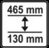 130 - 465 mm