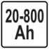 20-800Ah