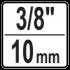 "3/8"" (10 mm)"