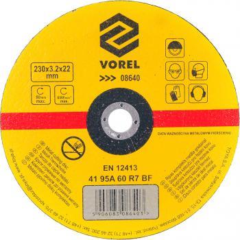 Disc debitat metale 230 x 3.2 x 22 mm Vorel 08640