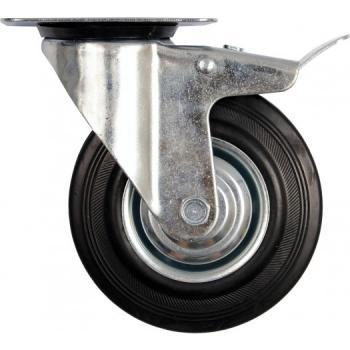 Roată mobilă cu opritor pentru cărucior 75/25/45 mm Vorel 87321