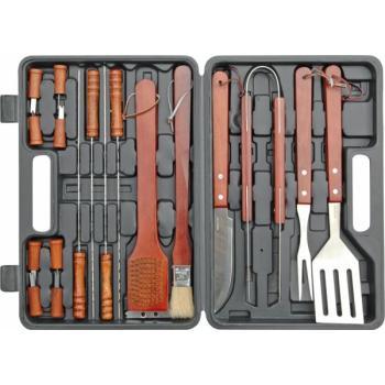 Set accesorii inox pentru grătar - 18 buc Vorel 99522