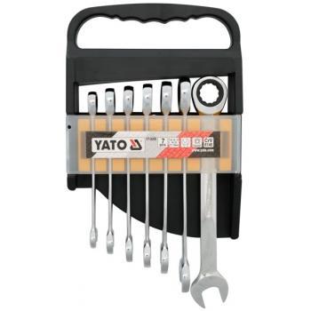 Set 7 chei combinate cu clichet 10 - 19 mm Yato YT-0208