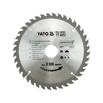 DISC FIERASTRAU WOLFRAM PT LEMN 160X30 Yato YT-6057
