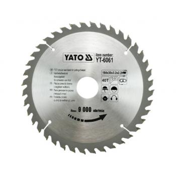 DISC  PT CIRCULAR WOLFRAM PT LEMN 184X40X30  Yato YT-6061