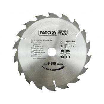 DISC PT CIRCULAR WOLFRAM PT LEMN 185X18X20  Yato YT-6063