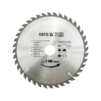 DISC FIERASTRAU CIRCULAR PT LEMN 210X40X30 Yato YT-6067