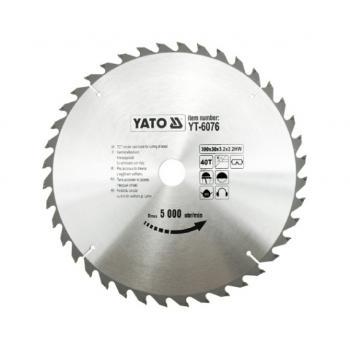 DISC FIERASTRAU CIRCULAR PT LEMN 300X40X30  Yato YT-6076