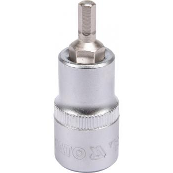 "Bit hex 5 cu adaptor 1/2"" 37 mm Yato YT-04381"