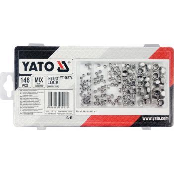 Set 146 piulițe autoblocante Yato YT-06774