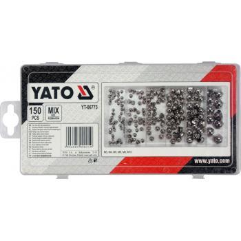Set piulițe închise 150 bucăți Yato YT-06775