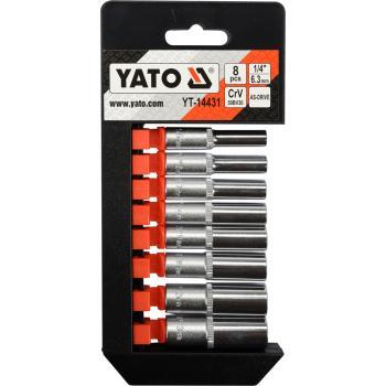 "Set chei tubulare 1/4"" 8 buc Yato YT-14431"