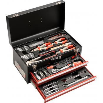 Trusă de scule profesională în cutie metalică 80 piese Yato YT-38951