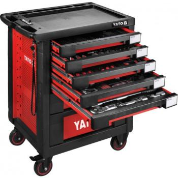 Dulap cu scule profesional echipat complet cu 7 sertare 165 piese Yato YT-55293