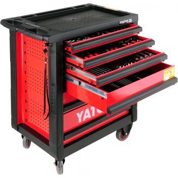 Dulap cu scule profesional echipat complet cu 6 sertare 177 piese Yato YT-55300