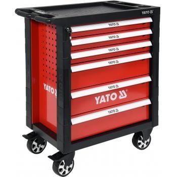 Dulap cu scule profesional 6 sertare echipat complet cu 177 piese Yato YT-55300