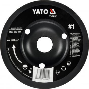 Disc raspel pentru lemn depresat 125 x 22.2 mm nr. 1 Yato YT-59167