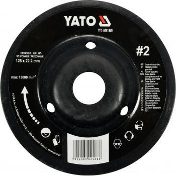 Disc raspel pentru lemn depresat,125 x 22.2 mm, Nr. 2 Yato YT-59169