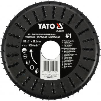 Freza raspel 118 x 21 x 22.2 mm, Nr. 1 Yato YT-59177