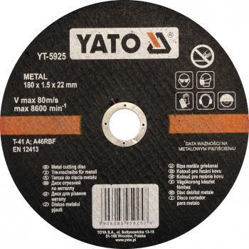 Disc debitat metale 180 x 1.5 x 22 mm Yato YT-5925
