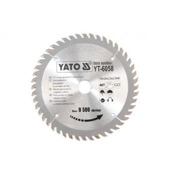 DISC FIERASTRAU WOLFRAM PT LEMN 160X48X20  Yato YT-6058