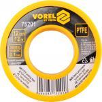 Bandă PTFE 12mm x 0,01mm x 12m Vorel 75201